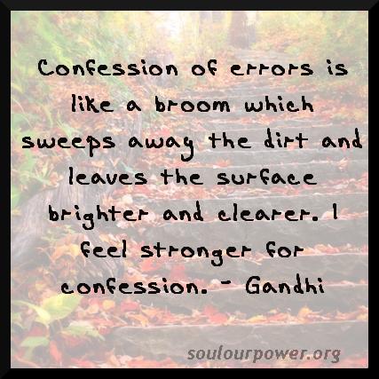 Gandhi on Confessions