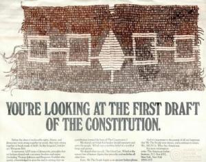 Image of first US constitution